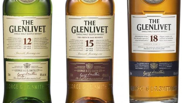 Glenlivet 12, 15, 18