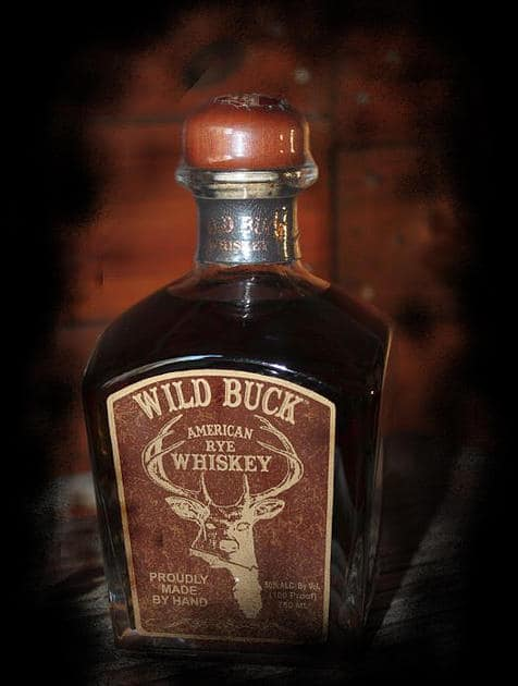 Bottle of Wild Buck Whiskey
