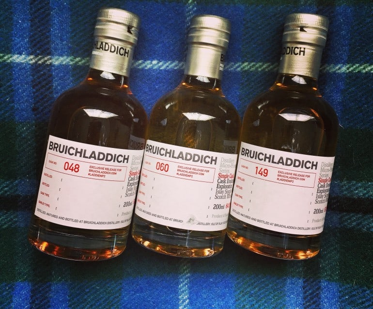Bruichladdich single casks