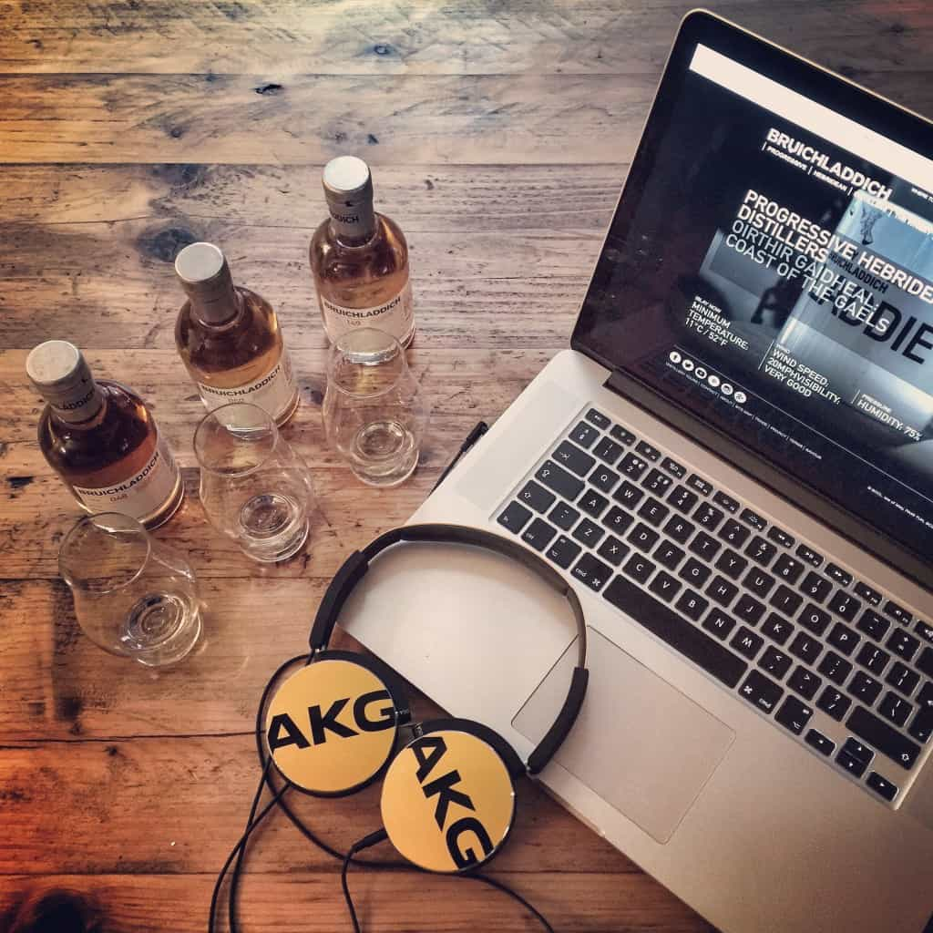 Whiskies and laptop