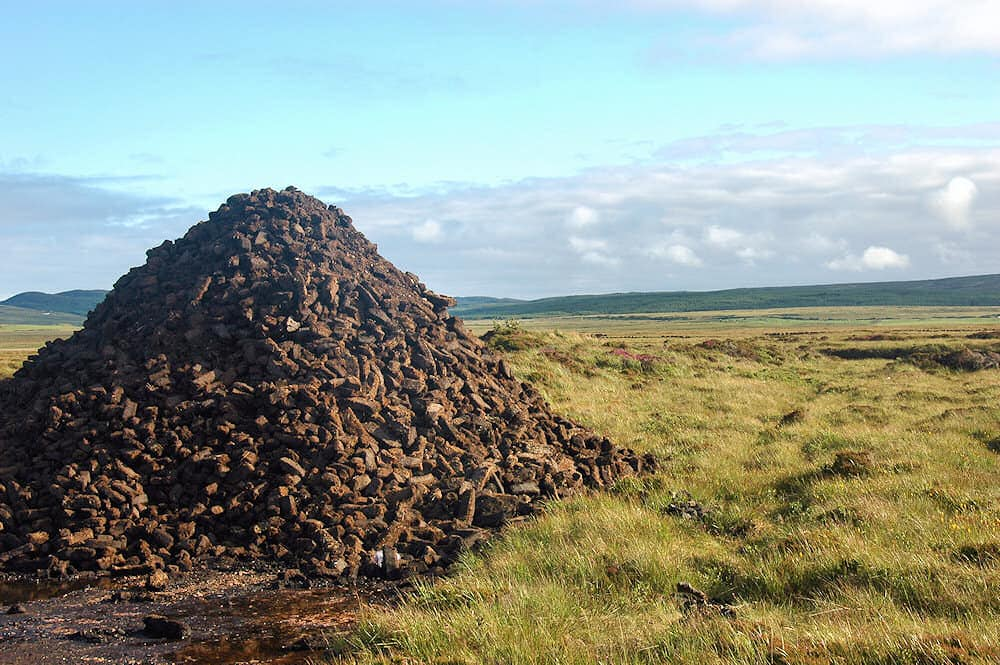 Peat stacks