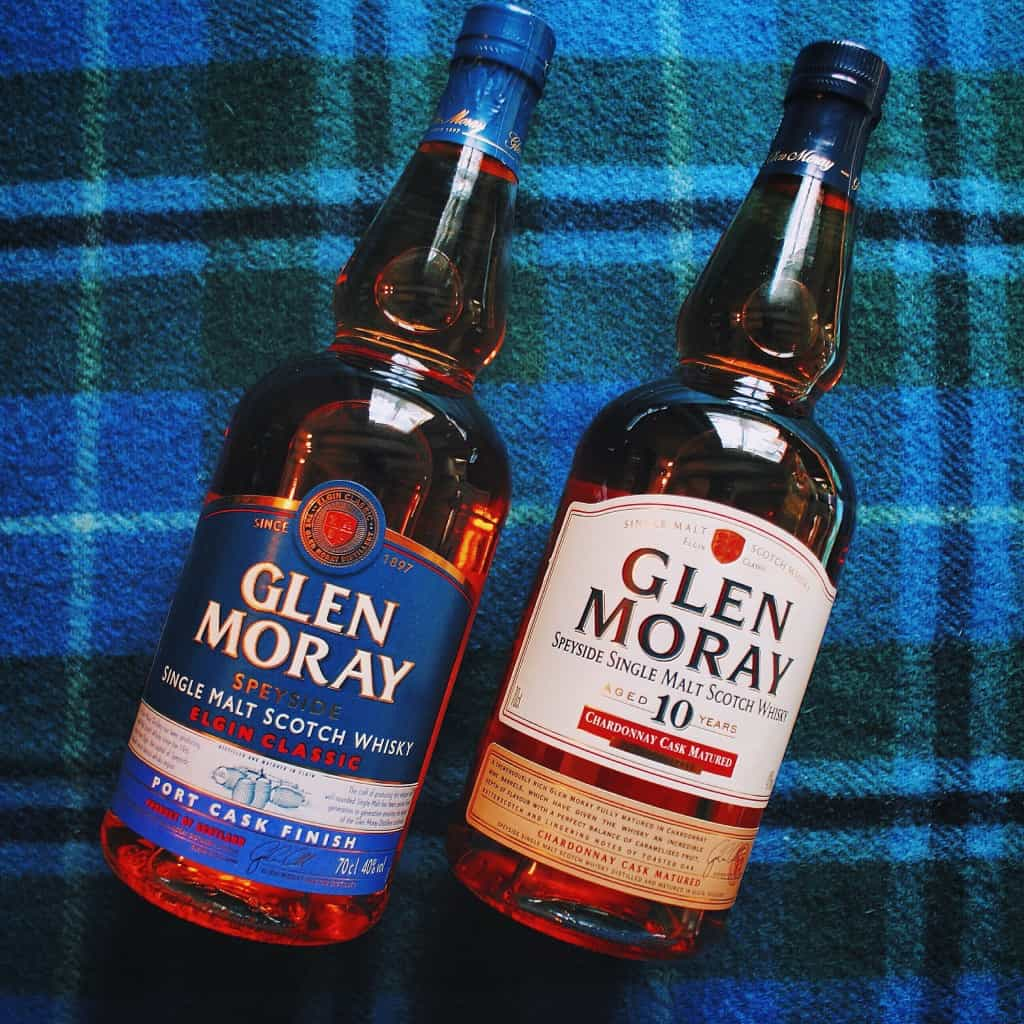 Glen Moray Chardonnay and Port cask whiskies