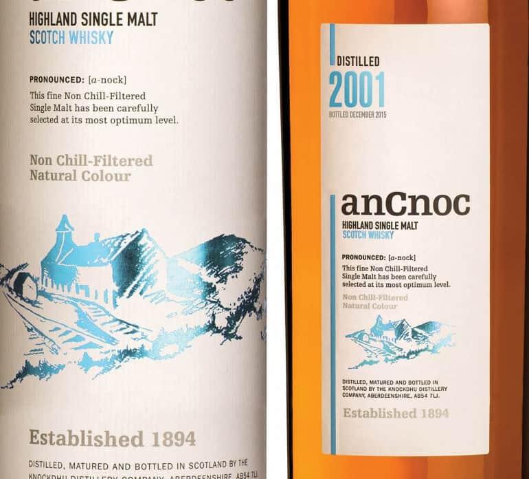 Ancnoc 2001 bottle & Tube