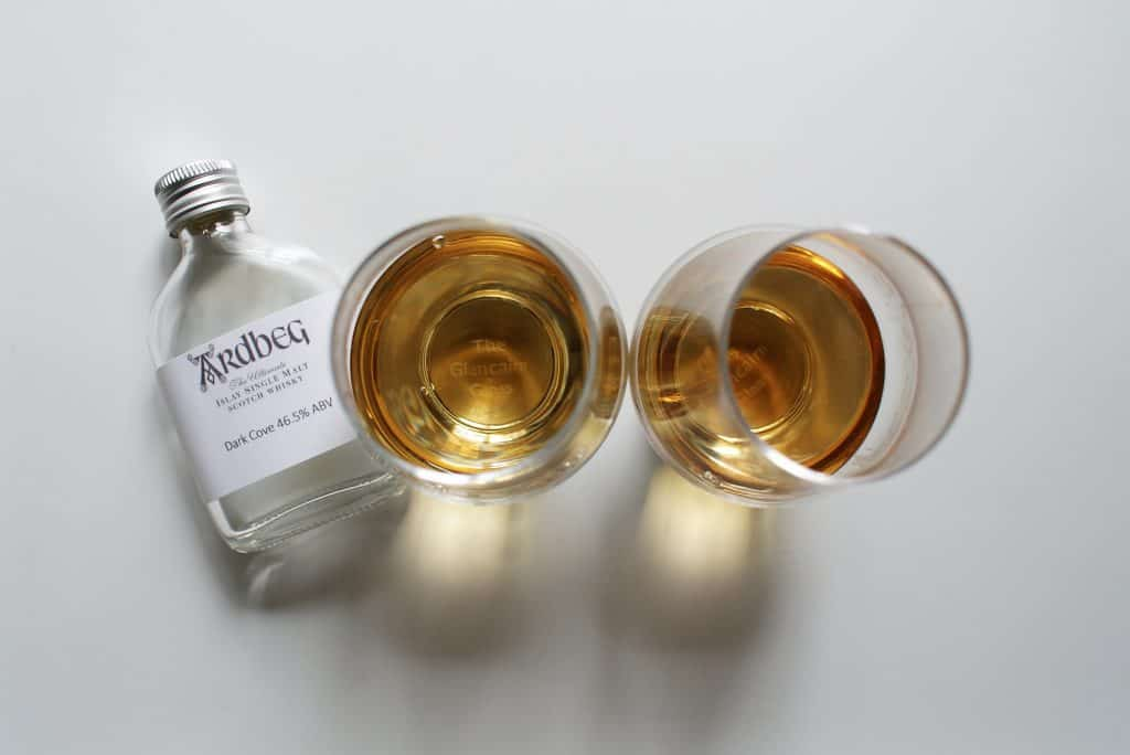 Two Ardbeg Dark Coves - the one on the right is the committee release