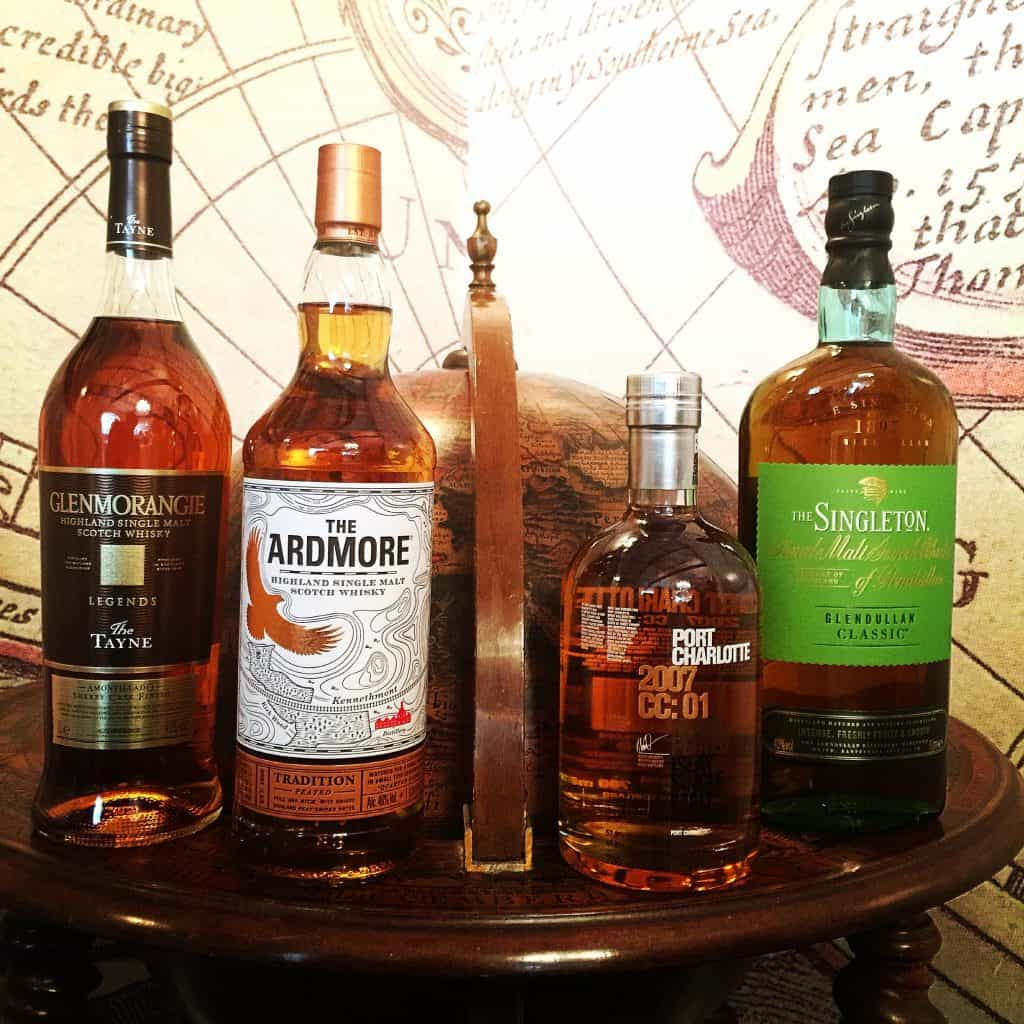 Travel retail whiskies