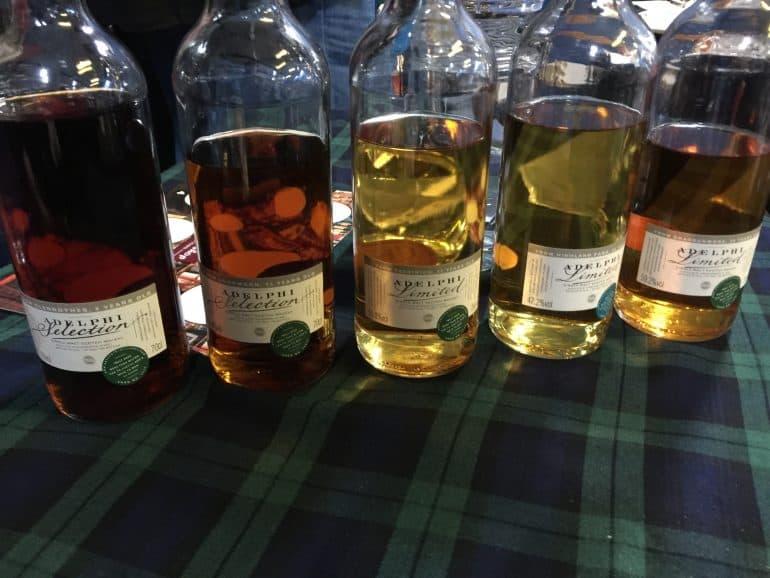 Adelphi tasting bottles