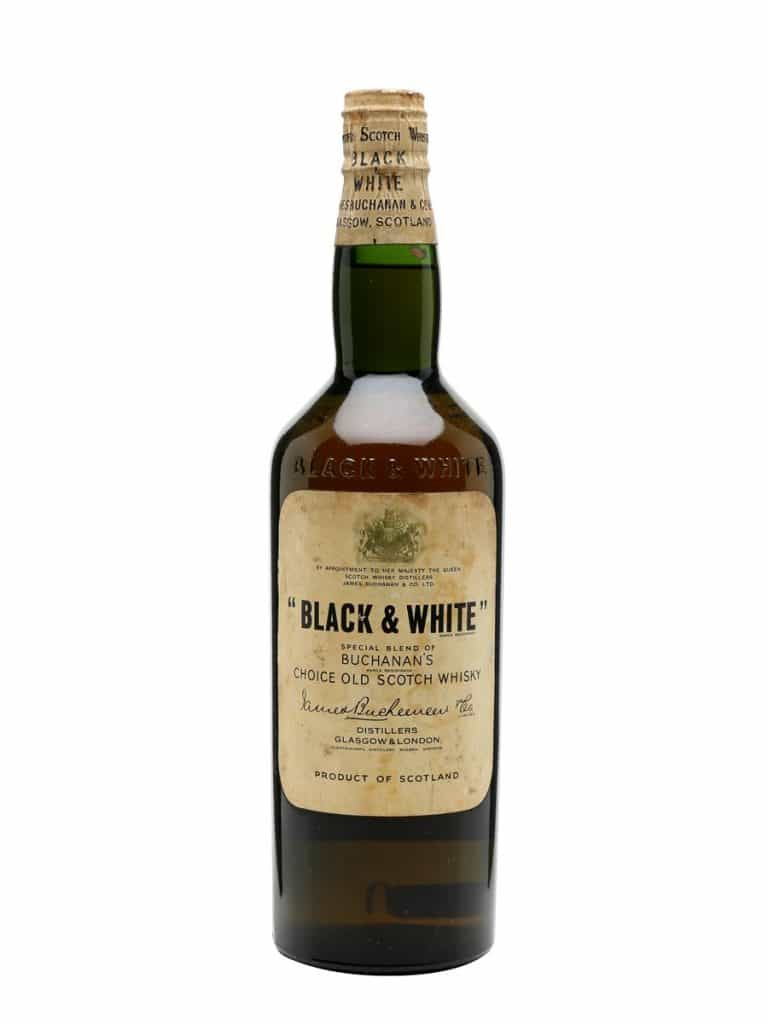 Black and White whisky