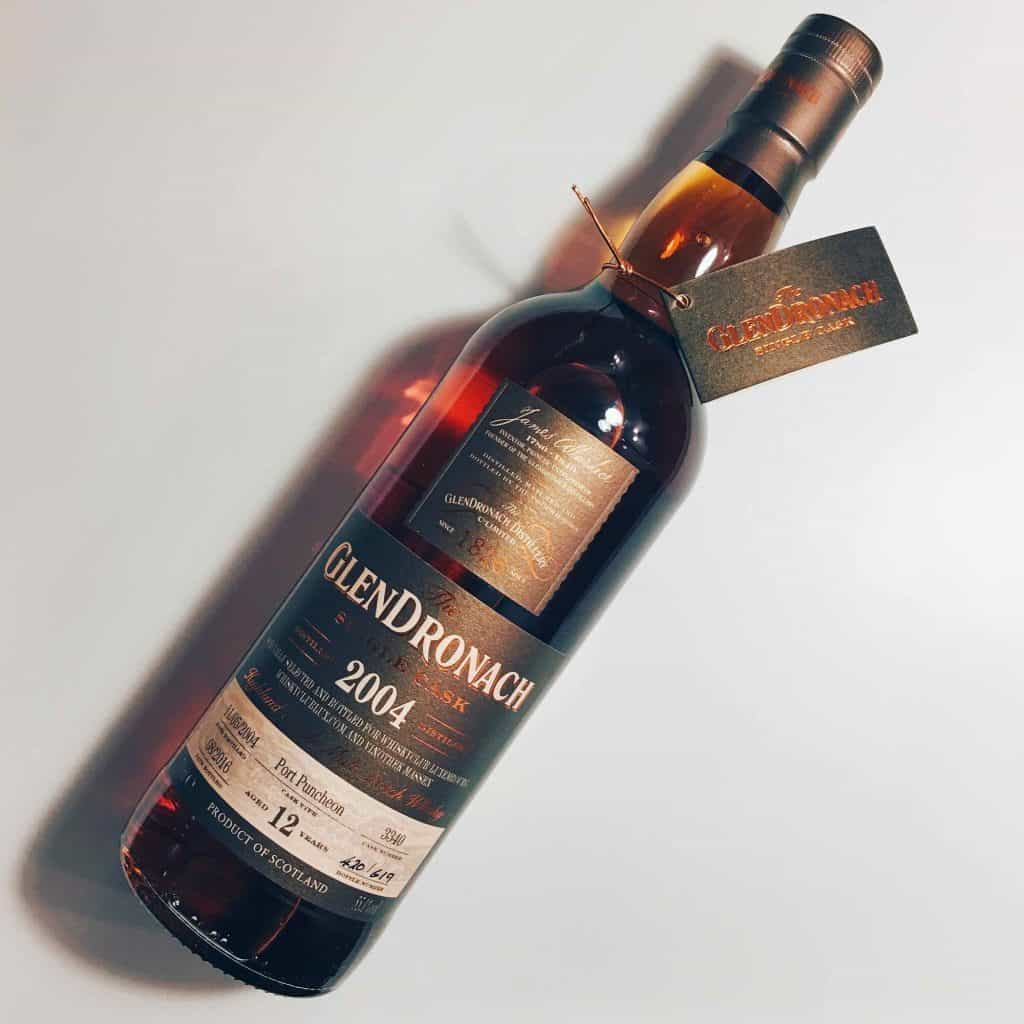 GlenDronach 12 Year Old Single Cask Port Puncheon bottle