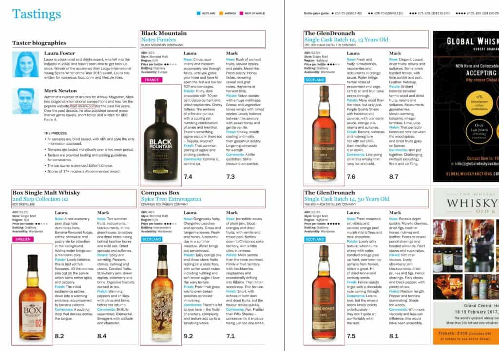 Whisky Magazine spread