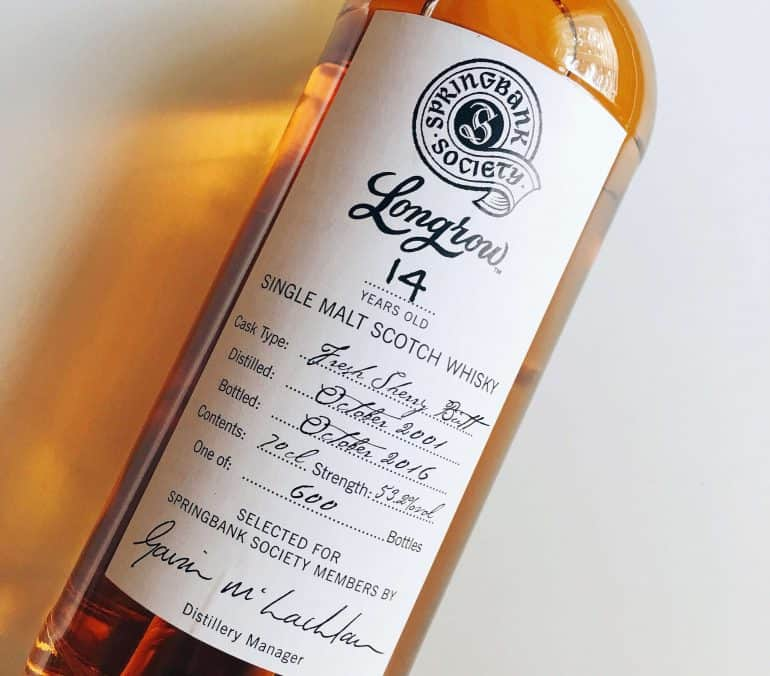 Longrow 14 Fresh Sherry