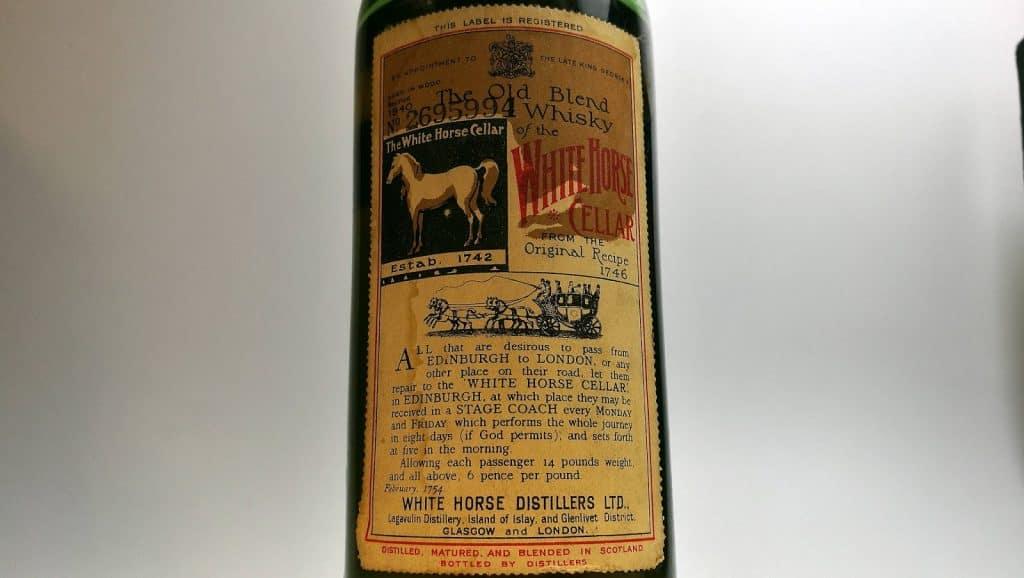 white horse 1940s bottle