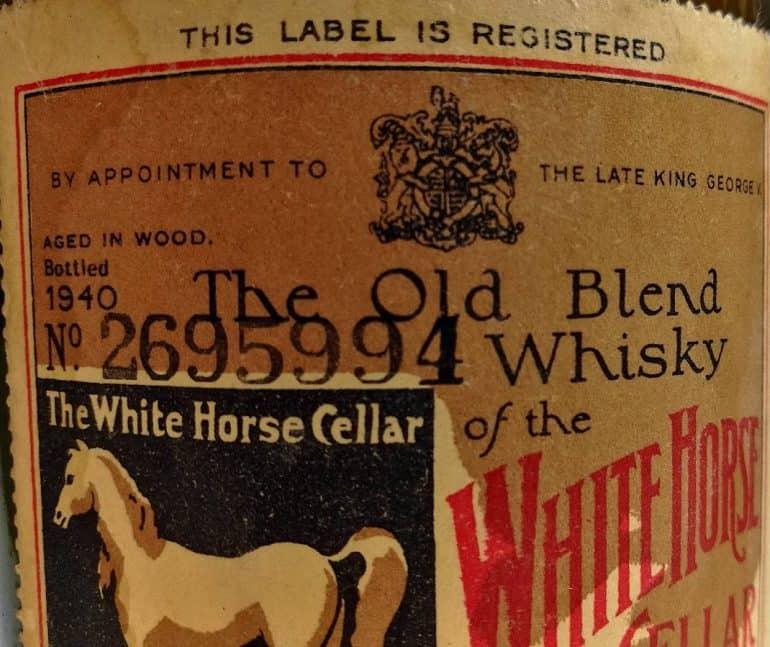 white horse 40s label