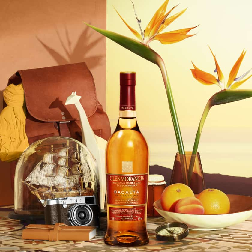 bottle of glenmorangie bacalta