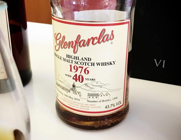 Glenfarclas old 40 year old whiskies