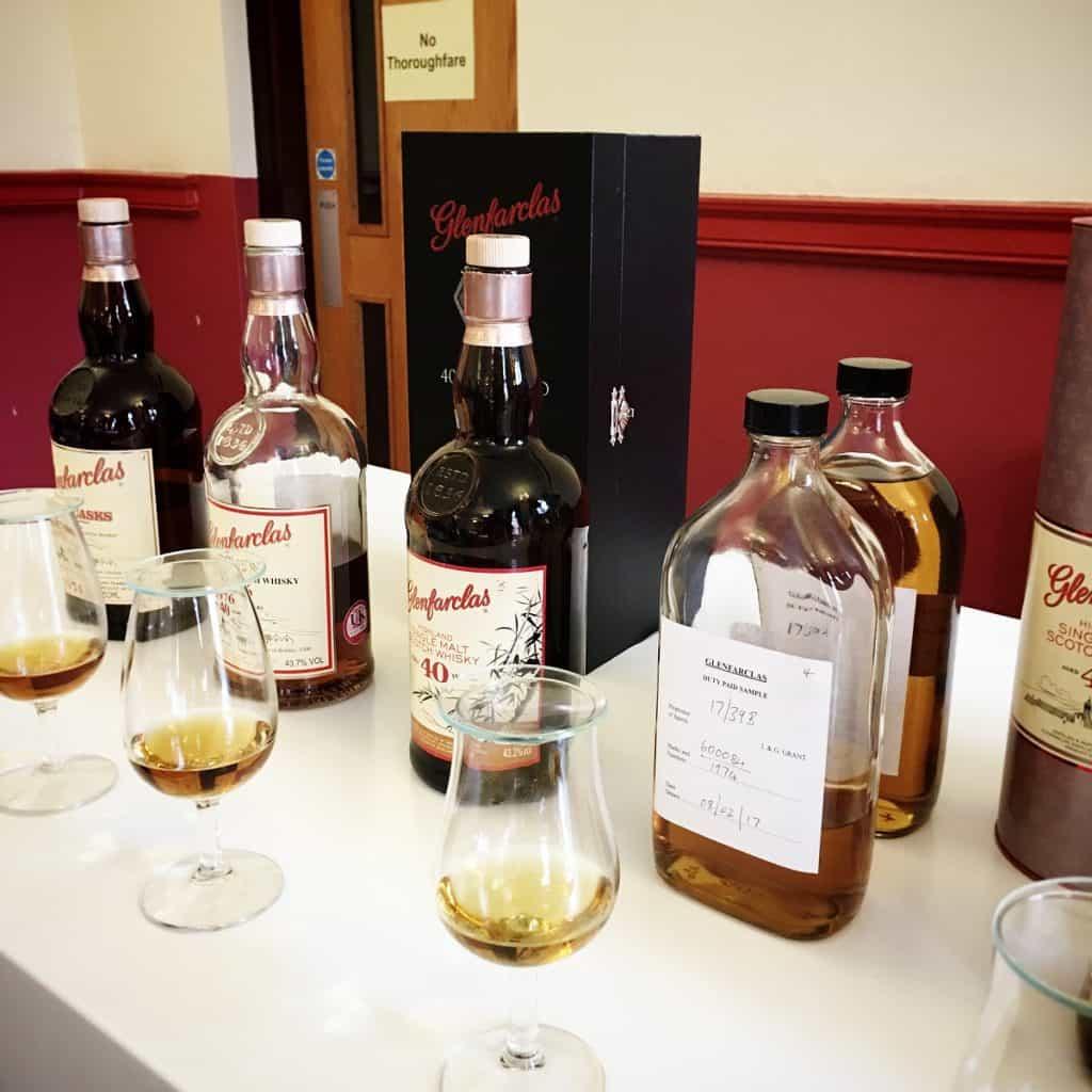 Glenfarclas 40 year old whiskies