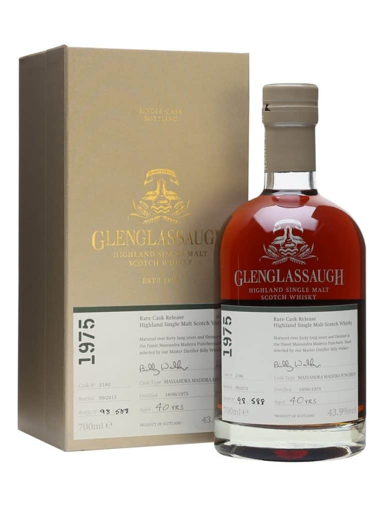 GLENGLASSAUGH 1975  40 Year Old Massandra Madeira Finish