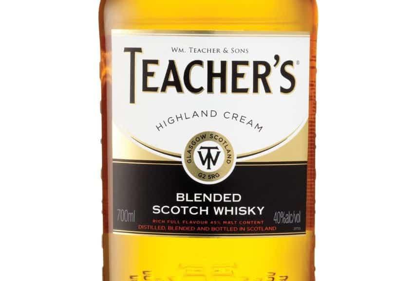 Teacher's whisky bottle