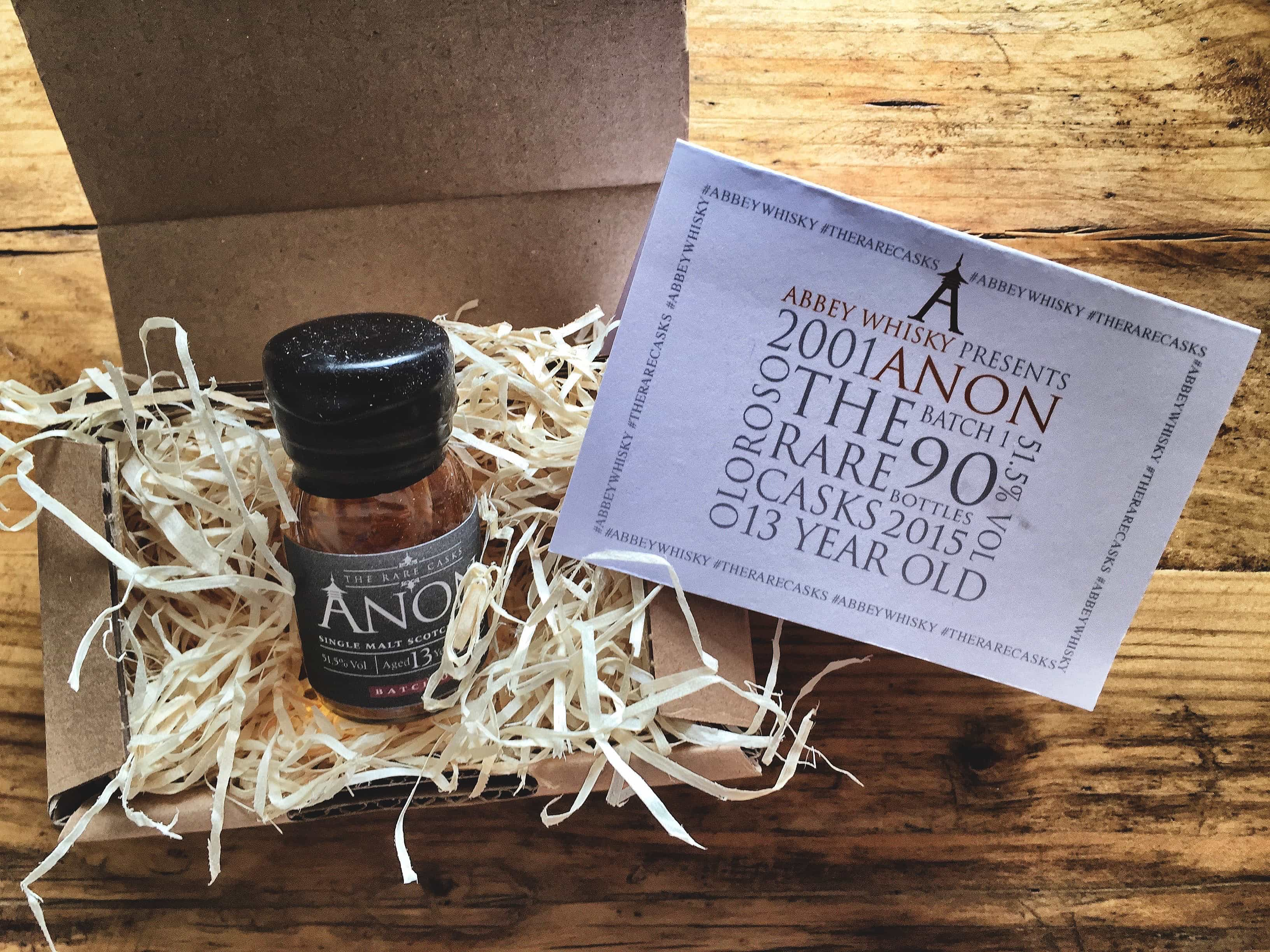anon batch one - abbey whisky