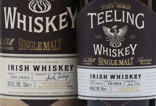Teeling Single Malt Whiskey - close-up