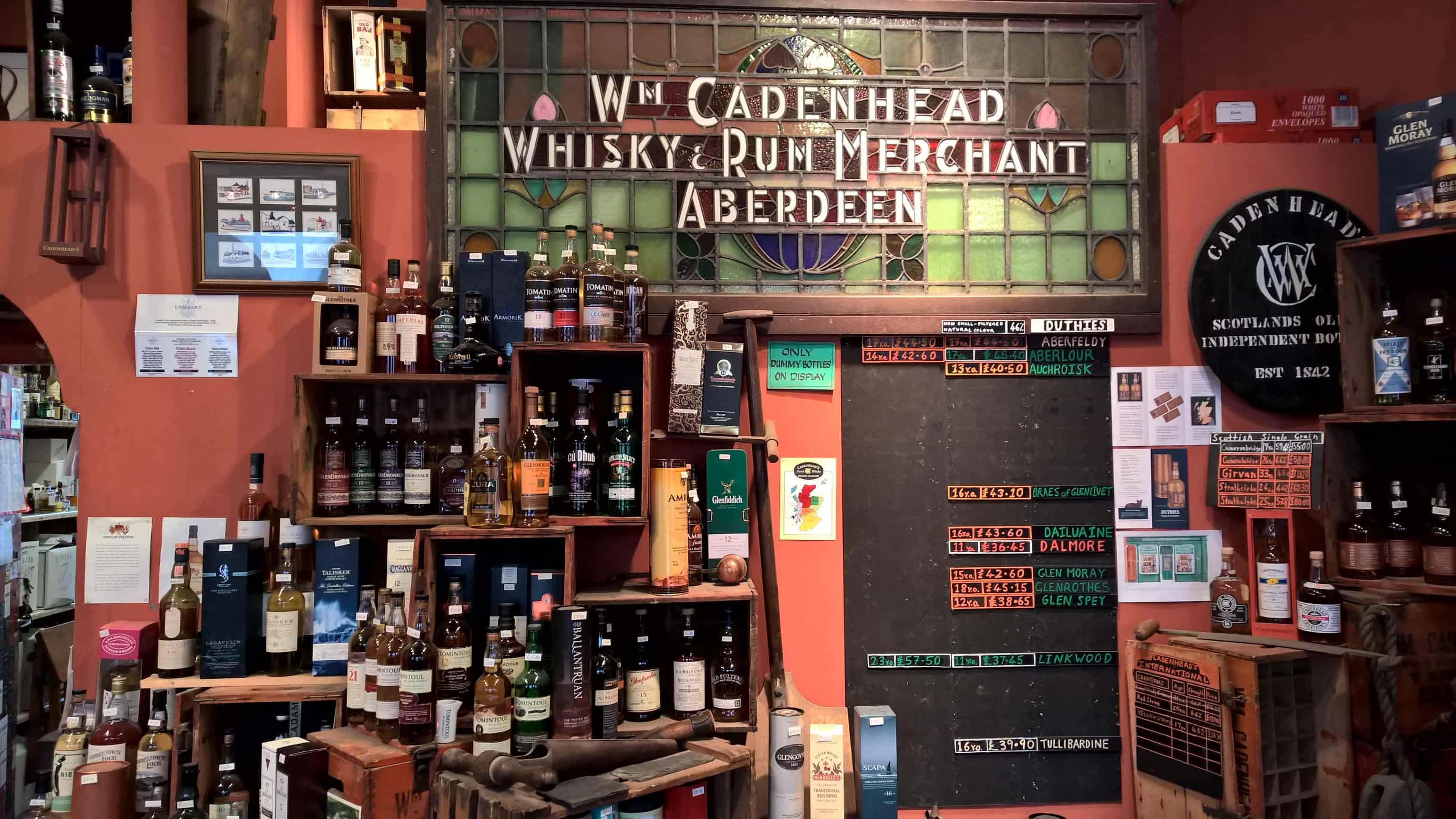 Cadenhead's shop
