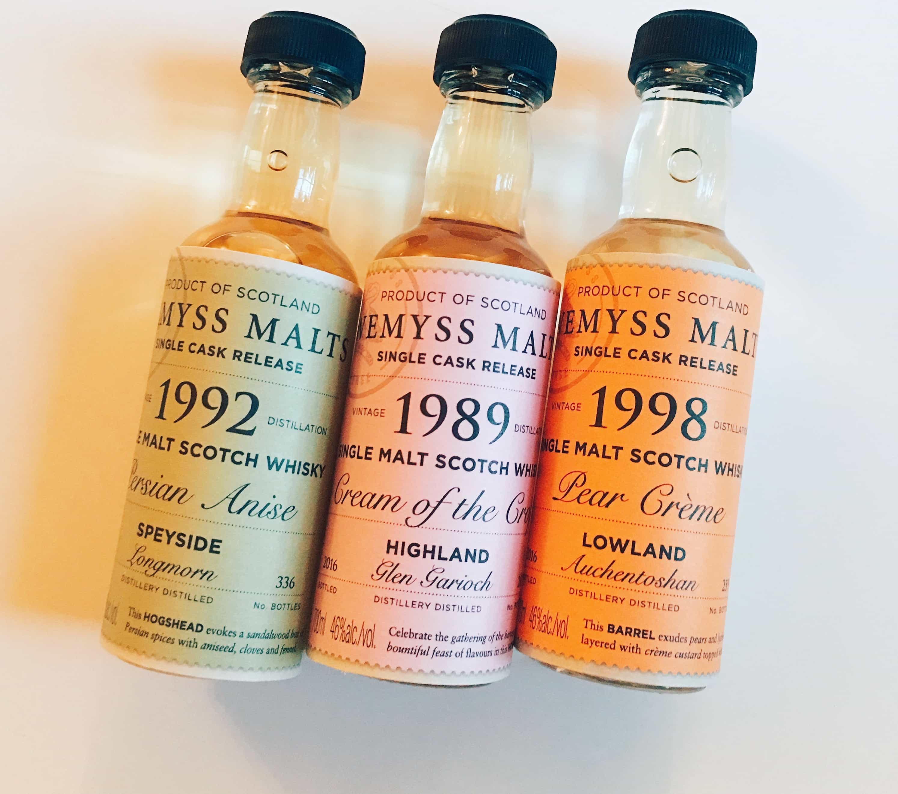 Wemyss Malts whiskies