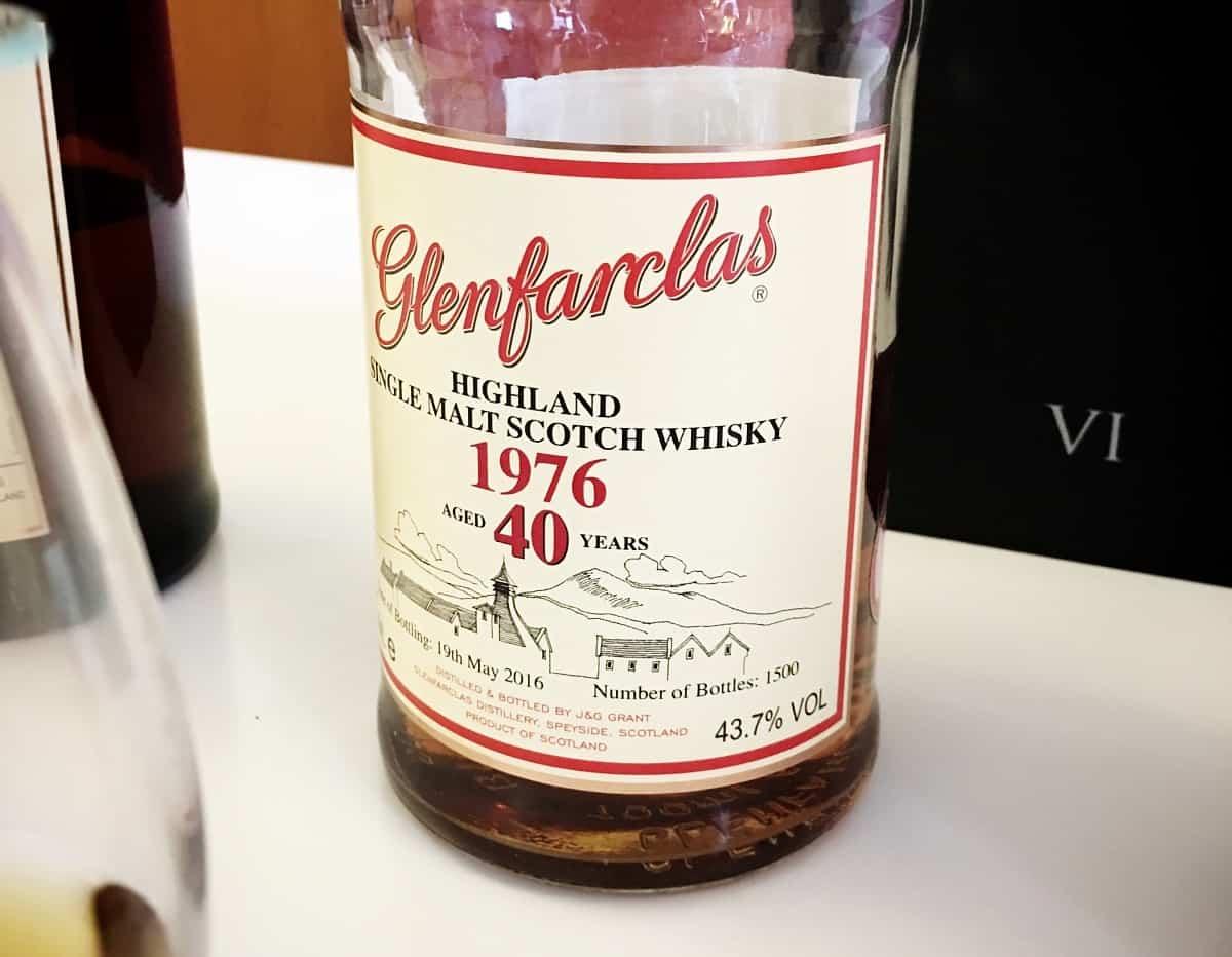 Glenfarclas old 40 year old whiskies