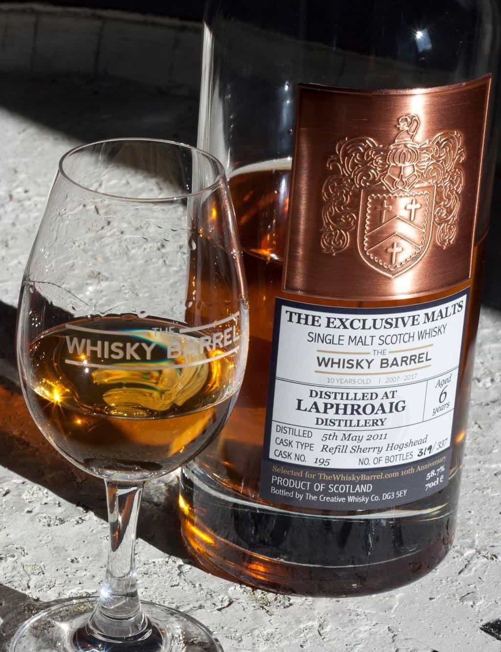 TWB 10TH ANNIVERSARY EXCLUSIVE WHISKEY #3: LAPHROAIG 6 YEAR OLD