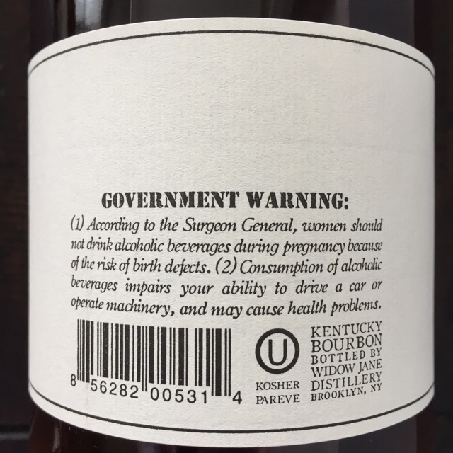 Widow Jane Back Label
