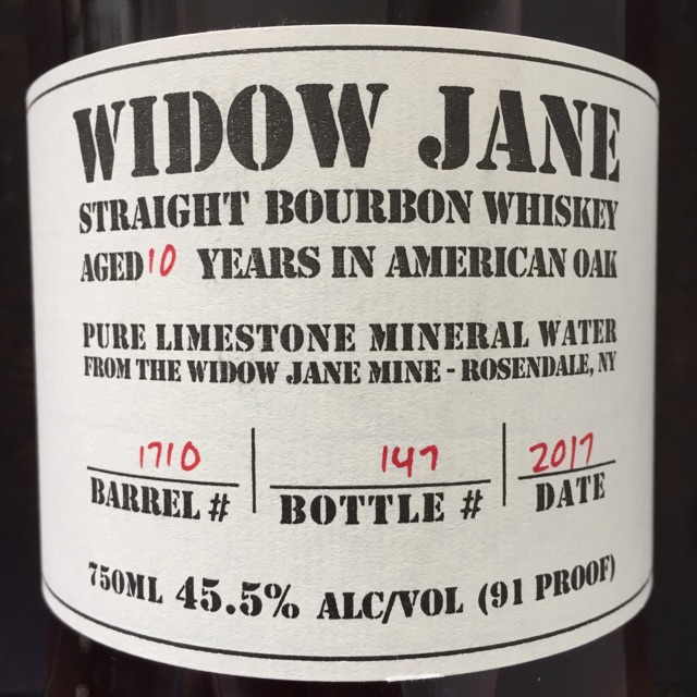 Widow Jane Front Label