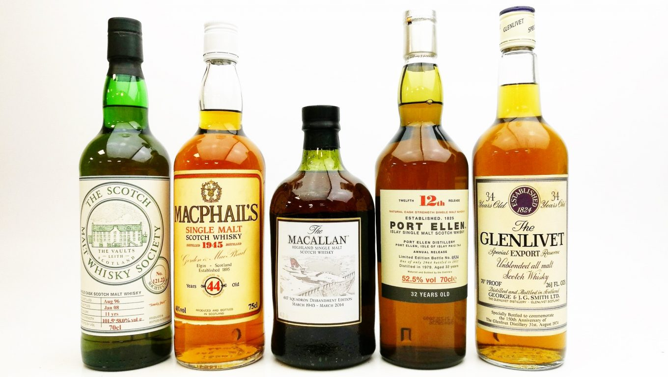 Old whiskies