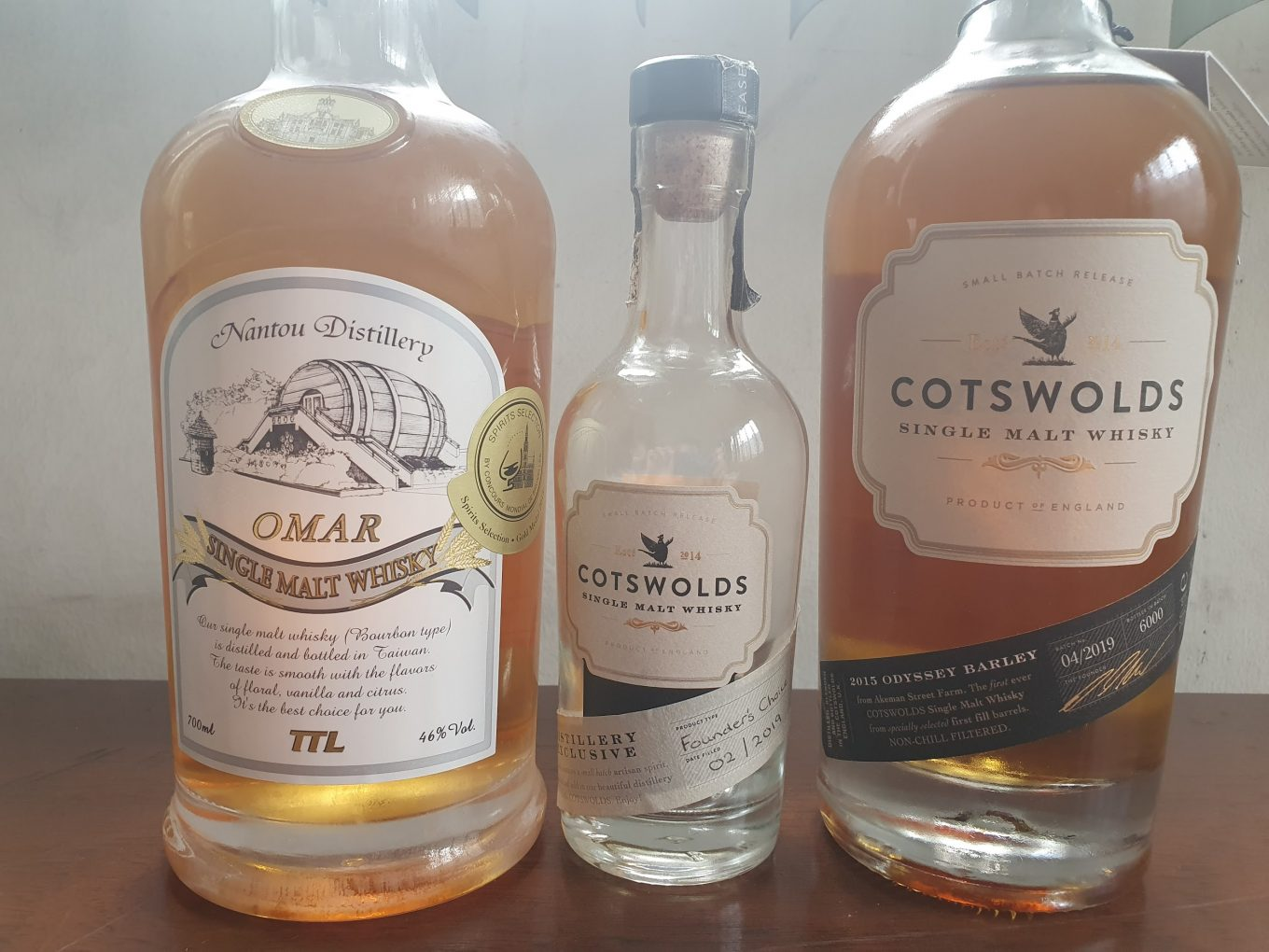 Cotswolds whiskies and Omar