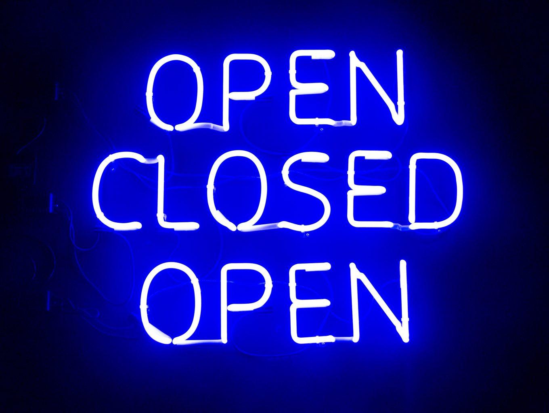 closed open